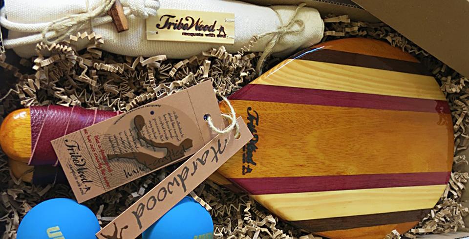 Frescobol racquets as a gift